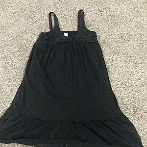 Old Navy woven yoke black challis dress size Small